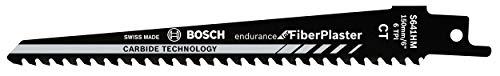 Bosch Professional 2 Stück Säbelsägeblatt S 641 HM Endurance for Fibre Plaster (für Gipskarton, 150 x 19 x 1,25 mm, Zubehör Säbelsäge)