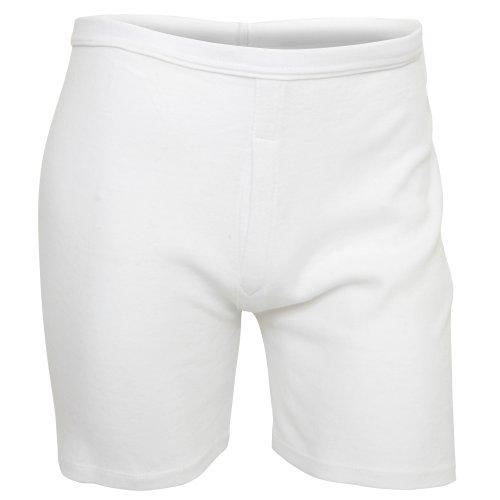 Textiles Universels Caleçons en 100% Coton (Lot de 2) - Homme (2XL - 112/116cm) (Blanc)