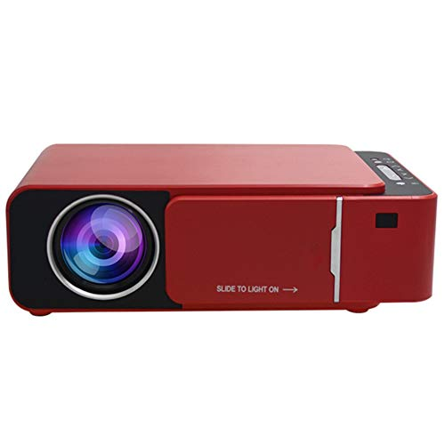 QK Mini Projector, Mini Portable Projector 720P LED Video Projector 30-170'Home Cinema Compatible with Iphone/Android/Laptop,B. Red