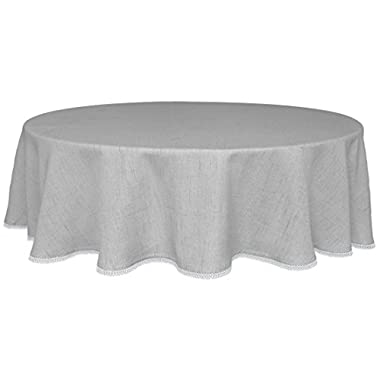 Lenox French Perle Solid 70  Round Tablecloth, Dove Grey