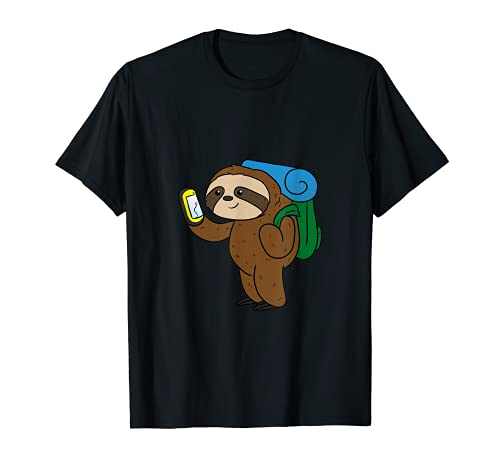 Perezoso Geocacher Receptor Gps Divertido Geocaching Camiseta