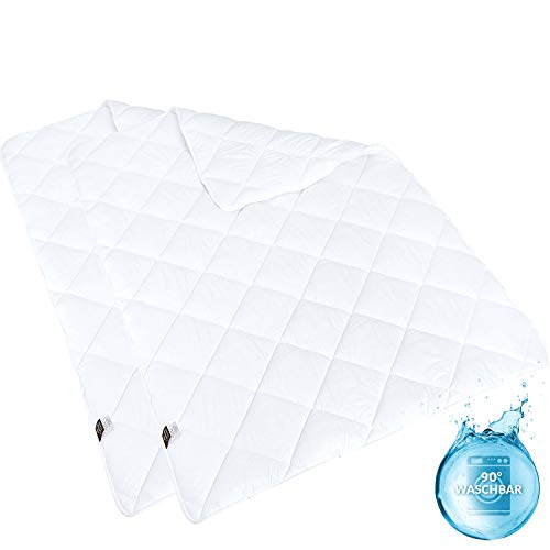sei Design Mikrofaser Winter-Bettdecke 135x200 2-er Pack | Kochfest, speziell für Allergiker und häufiges Waschen geeignet | Schadstoffgeprüft