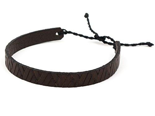 SIMARU Lederarmband Surferarmband aus hochwertigem Leder für Herren und Damen Armband perfekt als Freundschaftsarmband auch größenverstellbar (braun)