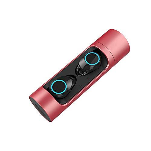 HX0945 TWS Bluetooth 5.0 hoofdtelefoon mini draadloze hoofdtelefoon hoofdtelefoon sporthoofdtelefoon met microfoon IPX7 waterdichte oortjes, rood