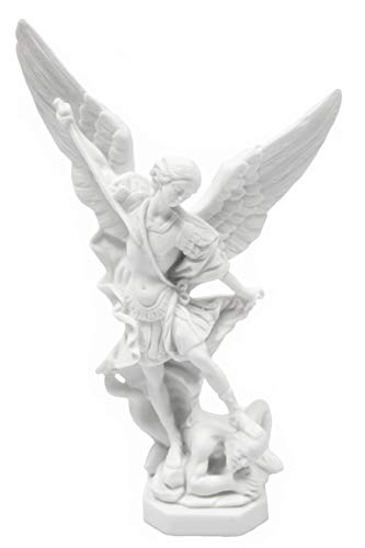 Vittoria Collection 8 Inch Tall Saint St Michael Archangel Italian Statue Sculpture Figurine Guardian Angel Protector Protection Made in Italy Indoor Outdoor