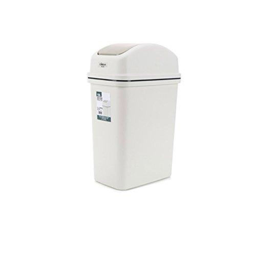 LOVELY Pattumiera Domestica Rifiuti in plastica per rifiuti di rifiuti Spazzatura per la Cucina in Giardino Pattumiera compatta Contenitore bidone (Color : Gray, Dimensione : 10l)