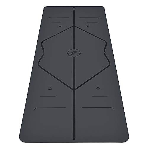 Liforme Travel Yoga Mat - The World's Best Eco-Friendly, Non Slip Yoga Mat with The Original Unique Alignment Marker System. Biodegradable Mat Made with Natural Rubber & A Warrior-Like Grip - Gray