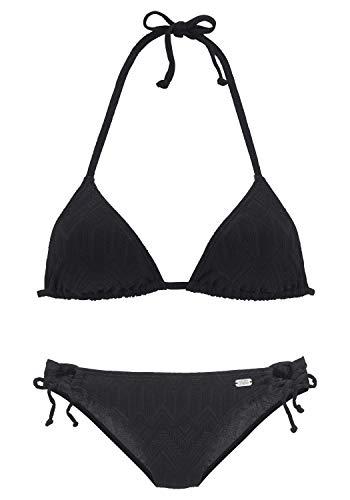 Buffalo Damen Triangel-Bikini mit modischer Struktur