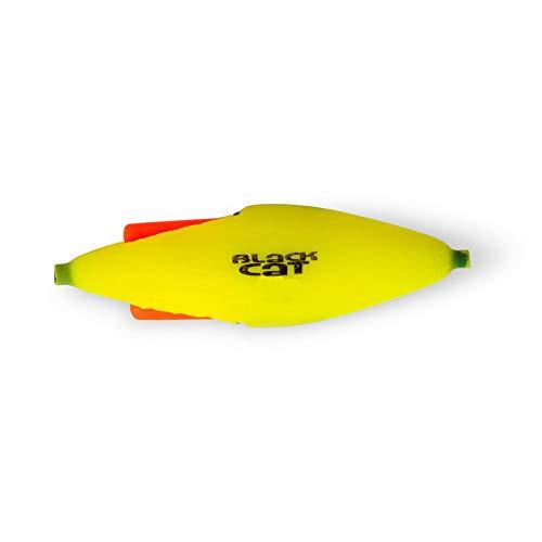 Black Cat Lightning Pose - Unterwasserpose zum Wallerangeln, Knicklicht U-Pose zum Welsangeln, Wallerpose, Welspose, Angelpose, Tragkraft:40g, Farbe:gelb