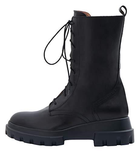 Poi Lei Damen-Schuhe Schnürstiefelette Ivy Echtleder Glattleder Blockabsatz - Handgefertigt in Europa