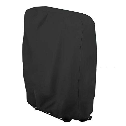 SlimpleStudio Windproof Anti-UV,Anti-aging sunshade light chair cover waterproof patio chair cover folding deck chair cover-black