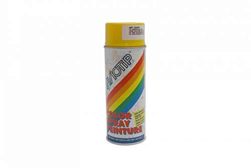 Bombe peinture jaune soleil brillant Motip 400ml