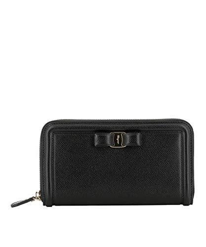 Salvatore Ferragamo Luxury Fashion Donna 0673734 Nero Portafoglio | Primavera Estate 19