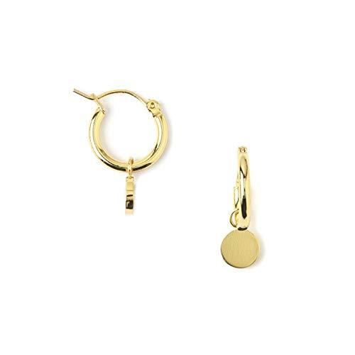 Chunky Mini Coin Hoop Earrings