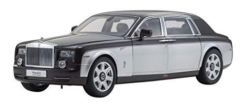 Rolls Royce Phantom Extended Wheelbase Dark Red and Silver 1/18 Diecast Model Car by Kyosho 08841 DRB