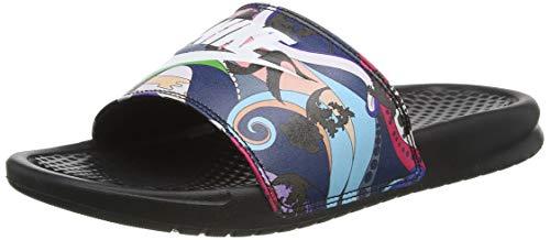 Nike Wmns Benassi JDI Print, Scarpe da Ginnastica Donna, Black/White, 36.5 EU