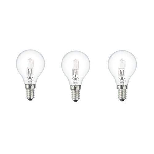General Electric gee034132–Set di 3lampadine ECO ALOGENA vetro 42W E14trasparente