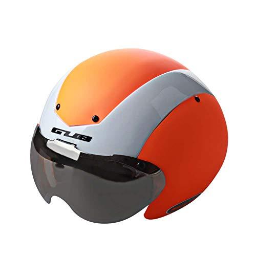 Boayiter Afneembare veiligheidsbril, fietshelm, valbeveiliging, verstelbaar, lichtgewicht, mountainbike, gespecialiseerd in skiën Eén maat oranje