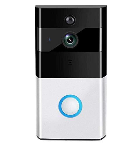 GIHI Timbre De Video WiFi, con Conversación Bidireccional En Tiempo Real, Visión Nocturna, Detección De Movimiento PIR Y Control Remoto De Aplicaciones para Una Fácil Instalación De iOS Y Android