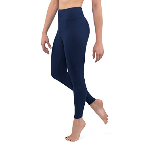 Posh by Anna Ultra Soft Double Brushed Women's Leggings with Premium Yoga Waistband - Slimming, High Waist - Solid Opaque...