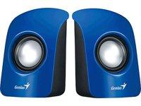 Genius SP-U115 - Lautsprecher (1-Weg, Verkabelt, USB/3,5mm, 1 W, 200-18000 Hz, Blau)