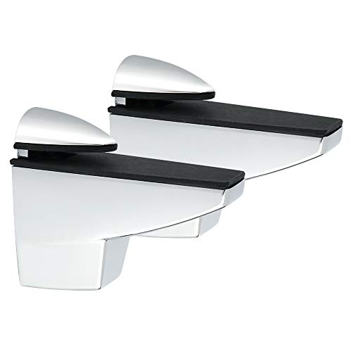 Alise 2 Pcs Adjustable Brackets Board/Glass Shelf Bracket Wall Mount Support Shelves Accessories,BLK839LS-2P Brushed Nickel
