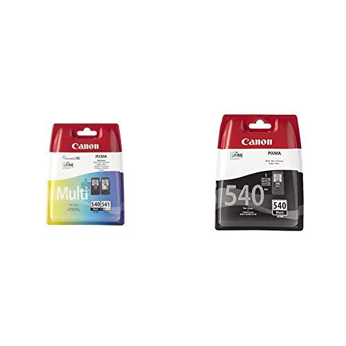 Canon PG-540/CL-541 Cartouche Multipack Noire + Couleur (Multipack Plastique) & PG-540 Cartouche Noire (Pack Plastique sécurisé)