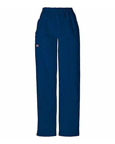 CHEROKEE Women's Workwear Scrubs Pull-On Cargo Pant, Navy, Medium-Petite