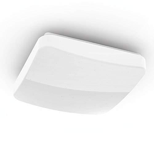 Hama Wi-Fi LED Deckenleuchte, kompatibel mit Alexa/Google Home (ohne Hub, dimmbar, 27cm, App/Sprachsteuerung (zB Echo Dot), warmweiß/neutralweiß/kaltweiß, 2,4GHz, quadratisch) WLAN Decken-Lampe