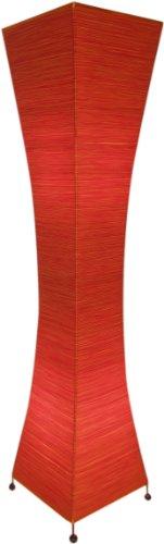 Guru-Shop Stehlampe/Stehleuchte Titania-string- Handgefertigte Designleuchte aus Bali, Rot, Baumwollfäden, Farbe: Rot, 118x38x38 cm, Asia Designleuchten