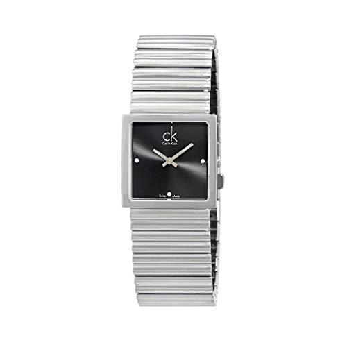 Calvin Klein ck spotlight - Reloj analógico de mujer de cuarzo con correa de acero inoxidable plateada