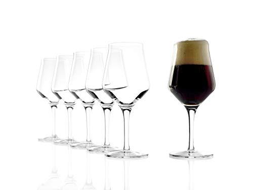 Stölzle Lausitz 0,4 l Craft Bier Gläser, 430 ml, 6er Set, hoch Funktionelle Biergläser für Craft-Biere geeignet, spülmaschinenfest, hochwertiges Kristallglas