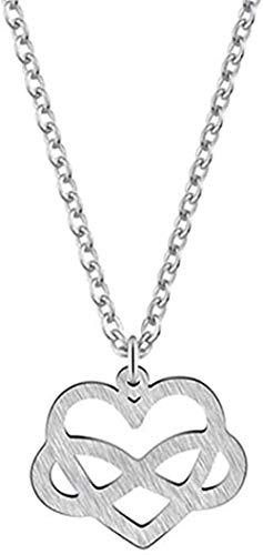 NC110 Necklace Infinity Tiny Love Heart Chain Women Necklace Charm Pendant Collar Choker