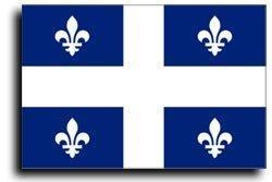BlockBusterClearance Quebec Flagge, 7,6 x 12,7 cm