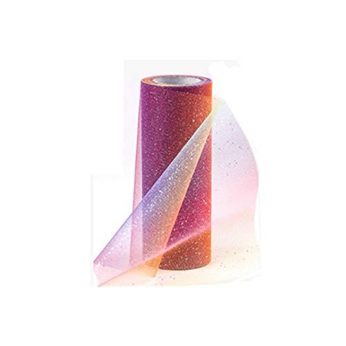 RHLDZSWB - Carrete de tul con lentejuelas, 15 cm, tutú de tela, decoración de boda, organza para la ducha, decoración de fiesta de cumpleaños (color: arcoíris naranja)
