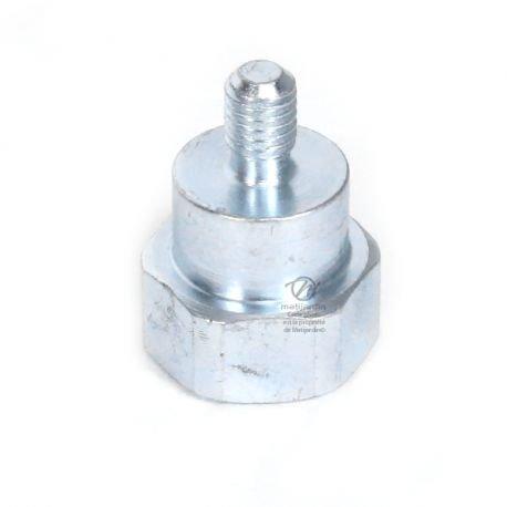Adaptateur pour tête débroussailleuse Super pro Tecomec. Mâle. Ø 8x1,25 mm Pas à gauche. - Pièce neuve