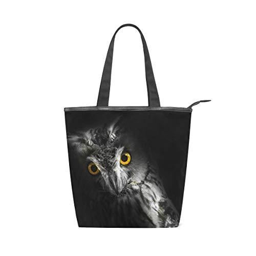 LUPINZ Tasche für Mädchen, Eulen-Design, dunkel