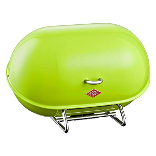 WESCO Single Breadboy – Steel Bread Box for Kitchen/Storage Container, Lime Green
