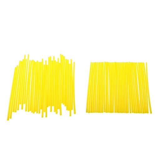 perfk 72 TLG. Gelb Motorrad Speichencover Spoke Skins, Länge 17cm, Umweltfreundlich, Hochtemperaturbeständig