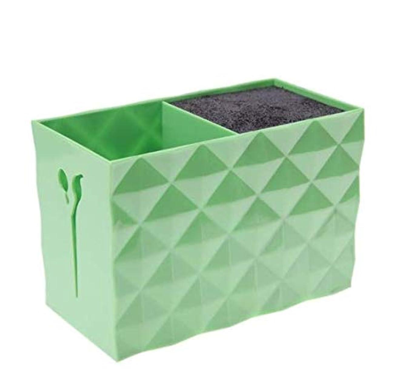 応答準備した野なLivemarket プロのアクセサリー非スリップソケット髪シザー櫛ポットスタンドケーススタイリングサロンヘアクリップ人気の収納ボックス (グリーン)