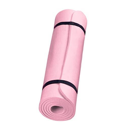 Claystyle Gymnastikmatte, Yogamatte Yogamatte Gepolstert & rutschfest für Fitness Pilates & Gymnastik mit Tragegurt-183 x 61 x 0,6cm (Rosa, 183 x 61 x 0,6cm)