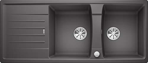 Blanco 524930 Lexa keukengootsteen Met afdruipoppervlak. 80 cm Unterschrank rots-grijs