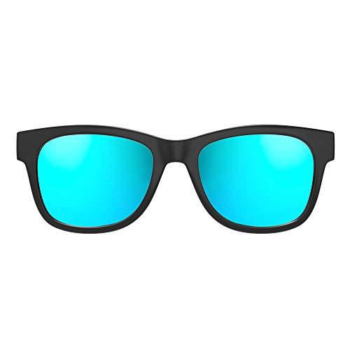 VOCALSKULL Knochenleitung Bluetooth 4.2 Sonnenbrille Drahtloser Stereo Kopfhörer Wasserdicht Wireless Polarisierte Sports Mikrofon für IOS/Android/PC Mattiert Blau (Anti-blaues Licht)