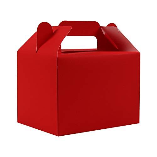 Scatole per Dolci (Confezione da 12) - Scatola Alimentare 11 Brillanti Colori - Scatole Bomboniere Bambini - Scatola Regalo Personalizzata Compleanno, Feste Nascituro, Baby Shower