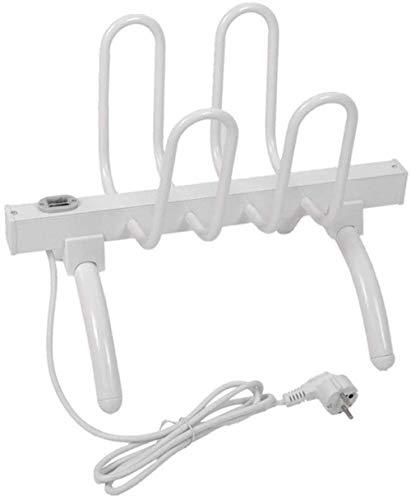 LXTIN Boot-Wärmer Trockner, Elektroschuhtrockner Hanger Schuhwärmer Trockner Wäscheständer Und Freistehende Schuhe oder Stiefel Abschrankungen (4-Schuh), Weiß,Weiß