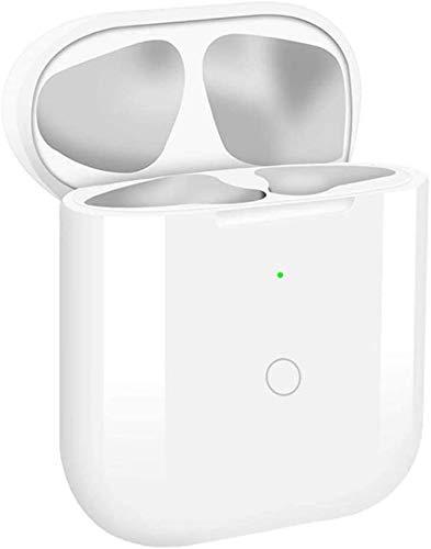 NeotrixQI Sostituzione della custodia di ricarica wireless Qi Compatibile con AirPods 1 2, Coperchio di protezione Batteria integrata con pulsante di sincronizzazione bluetooth
