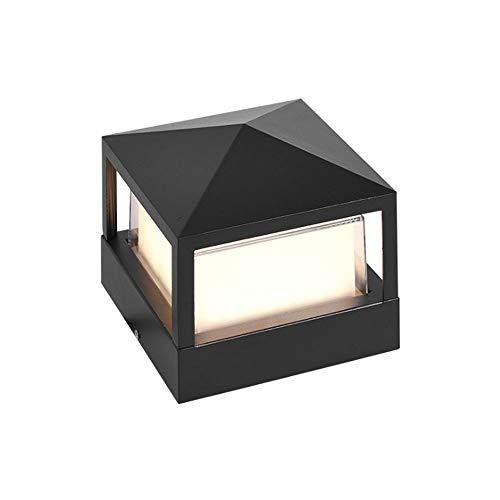 Slreeo Pillar Lampe Gartenbeleuchtung Gartensäule Leuchte Wand Torpfosten Lampe Rasen Lampe Landschaftsbeleuchtung Straßenbeleuchtung Hauptbeleuchtung Pool leuchtet Deck Straßenlaterne leuchtet Lampe