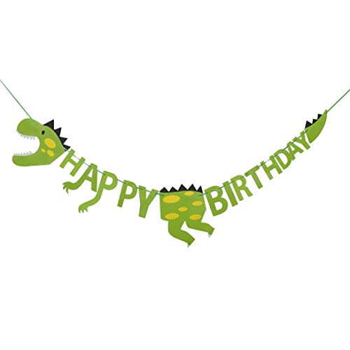 HONGXIN-SHOP Decorazioni di Compleanno di Dinosauro Happy Birthday Banner Decorazione per Festa...