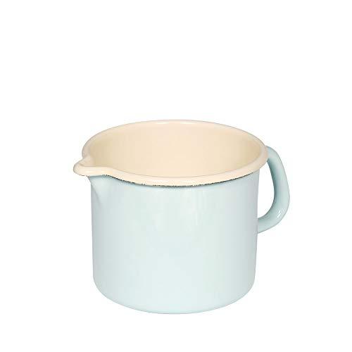 Riess, 0041-006, Schnabeltopf 14 1,7 L, CLASSIC - BUNT/PASTELL, Farbe Türkis, Durchmessser 14 cm, Höhe 12,5 cm, Inhalt 1,7 Liter, Emaille