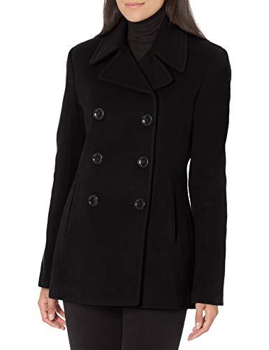 Calvin Klein Damen Womens Double Breasted Peacoat Caban-Jacke, schwarz, 3X